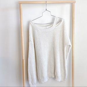 American Rag White Knit Sweater XL